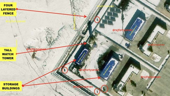 Satellite imagery of PLA's second garrison | Col. Vinayak Bhat (retd.)/ThePrint