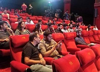 A cinema hall in India