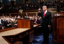 US President Donald Trump delivers a State of the Union address to a joint session of Congress at the US Capitol in Washington, D.C., US | Doug Mills/Pool via Bloomberg