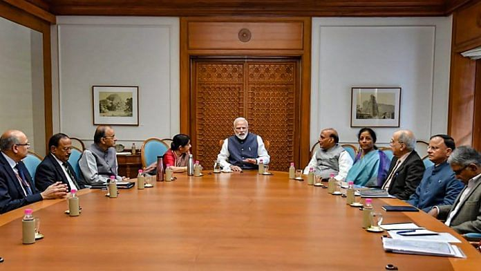 PM Narendra Modi chairs a meeting of the Cabinet Committee on Security at his residence in New Delhi | PTI