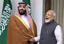 Saudi Crown Prince Mohammed Bin Salman and PM Modi at Hyderabad House in New Delhi   Praveen Jain/ThePrint.in