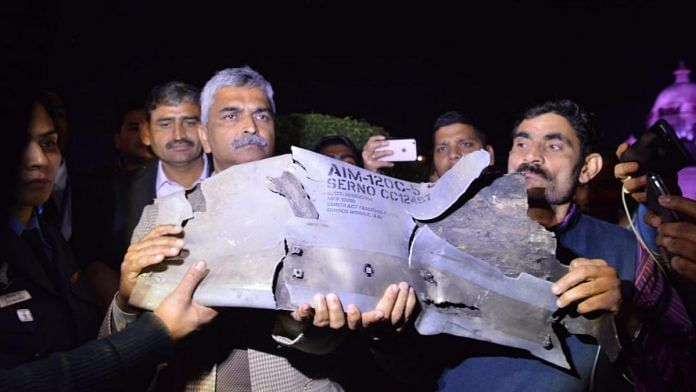 India today produced debris of the AIM-120 missile which was fired by the Pakistani F-16