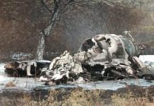 Debris of the Mirage 2000 that crashed in Bengaluru | Twitter