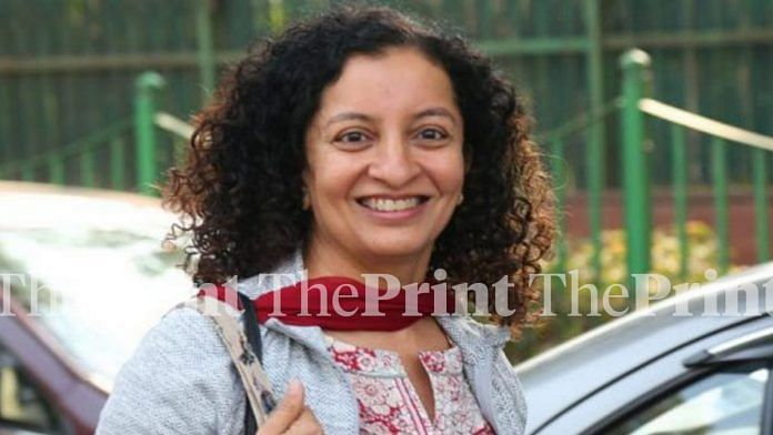 Priya Ramani outside Patiala House Court | Suraj Singh Bisht / ThePrint