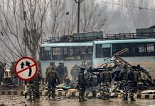 File image of the Pulwama terror attack | Photo: PTI
