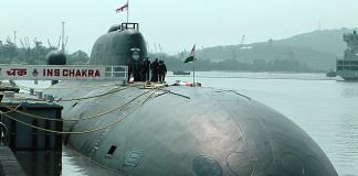 An INS Chakra SSN submarine used by Indian Navy   Commons