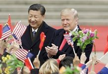Donald Trump with Xi Jinping