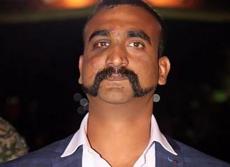 Indian Air Force (IAF) pilot Wing Commander Abhinandan Varthaman as he is released by Pakistan authorities at Wagah border on the Pakistani side