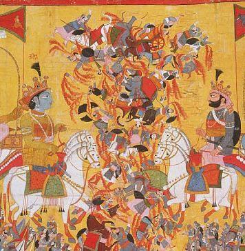 The battle of Kurukshetra in Mahabharata | Commons