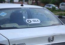 Ola taxi in New Delhi