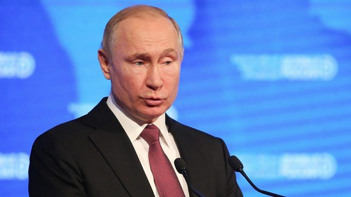 Vladimir Putin, Russia's president, speaks during the