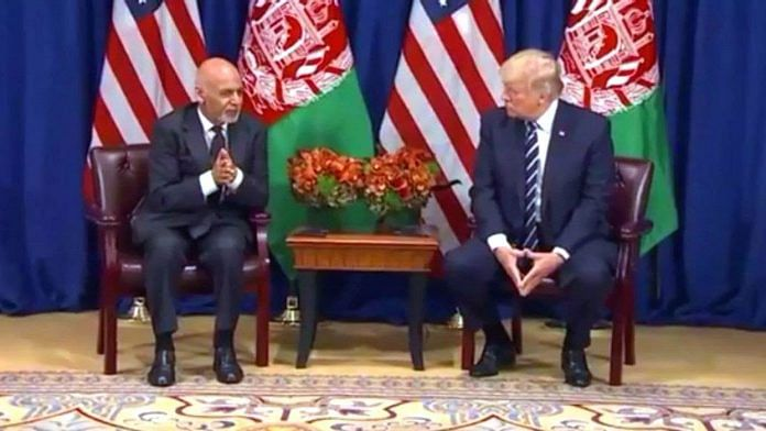 US president Donald Trump with Afghanistan president Ashraf Ghani | YouTube