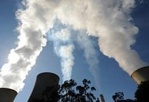 Steam billows from the cooling towers of the Yallourn coal-fired power station operated by EnergyAustralia Holdings Ltd