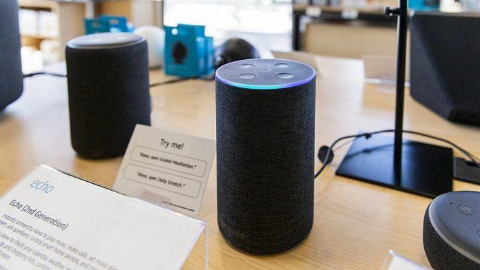 An Echo smart speaker inside an Amazon store in Berkeley, California   Cayce Clifford/Bloomberg