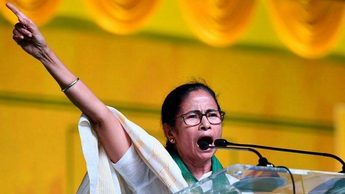 West Bengal CM Mamata Benerjee during poll campaign in Visakhapatnam | PTI