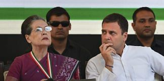 Congress president Rahul Gandhi and UPA chairperson Sonia Gandhi during the manifesto release | Shahbaz Khan/PTI