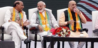 File Photo | Rajnath Singh, Narendra Modi and Amit Shah in New Delhi | Praveen Jain | ThePrint