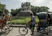 The Anti Terrorism Raju Memorial Sculpture at the TSC circle of the University of Dhaka | Ismail Ferdous/Bloomberg