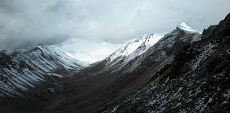Khardung La ridge as seen from Leh - Pass on horizon | Pic courtesy Air Cmde RA Maslekar