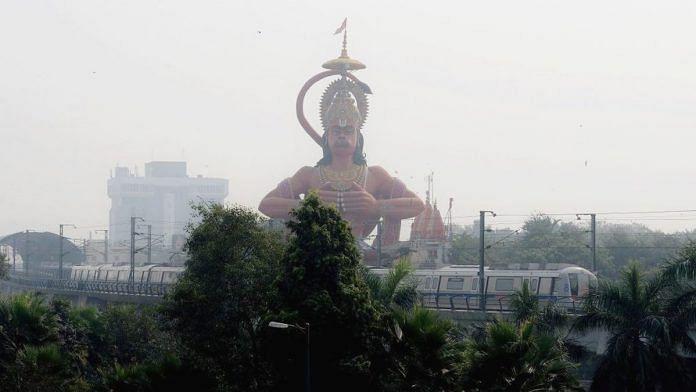 A Hanuman statute in Delhi