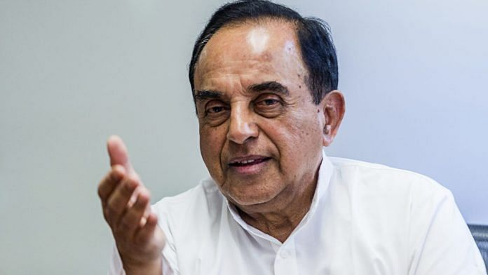 File photo of Subramanian Swamy | Prashanth Vishwanathan/Bloomberg