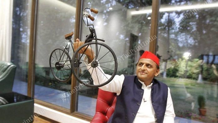 Samajwadi Party chief Akhilesh Yadav | Praveen Jain| ThePrint