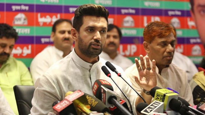 File image of Chirag Paswan | Photo: Suraj Singh Bisht | ThePrint