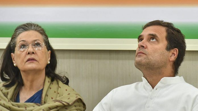 File photo | Congress president Rahul Gandhi and former president Sonia Gandhi at the Congress Working Committee (CWC) meeting, in New Delhi | PTI