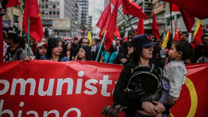 May Day protests in Colombia in 2018