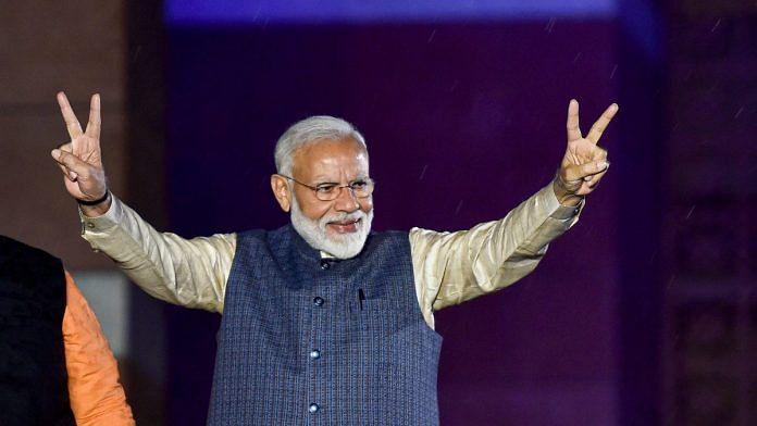 PM Modi after winning elections
