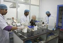 Research assistants at work in a lab in Indian Institute of Technology (IIT) Kharagpur in Kharagpur