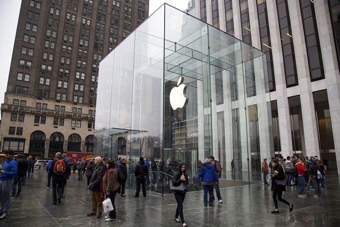 An Apple store on Fifth Avenue in New York