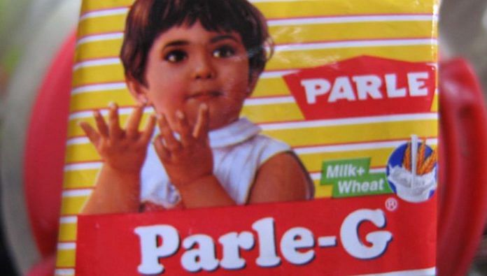A packet of Parle-G biscuits