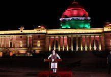 Narendra Modi at Rashtrapati Bhavan | T. Narayan/Bloomberg