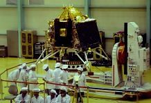 ISRO personnel work on the orbiter vehicle of Chandrayaan-2 at ISRO Satellite Integration and test establishment (ISITE), in Bengaluru | PTI Photo