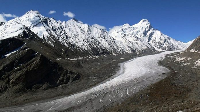 A glacier system of the Great Himalayan Range. | Commons