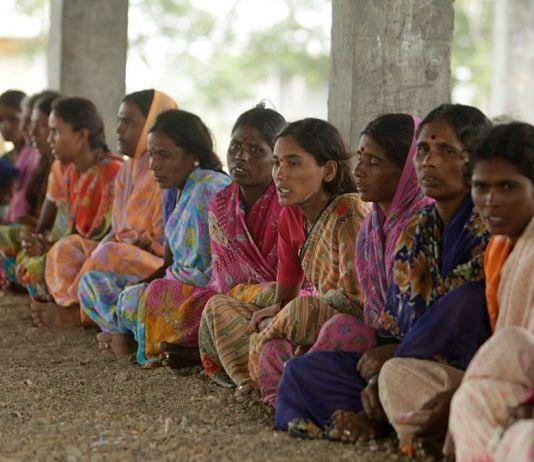 Representational image of women in saris