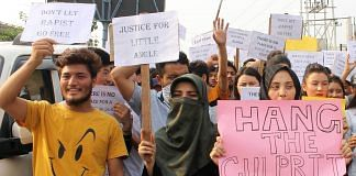 People protest against the rape of a three-year-old in Jammu. (Representational Image) | ANI Photos