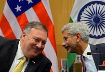 File image of US Secretary of State Mike Pompeo and India's External Affairs Minister S. Jaishankar | Photo: ANI