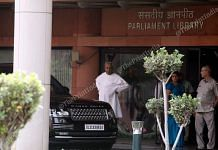 Odisha CM Naveen Patnaik outside Parliament House in New Delhi | Praveen Jain | ThePrint File Photo