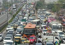 Traffic jam in New Delhi. (Representational Image) | ANI Photos