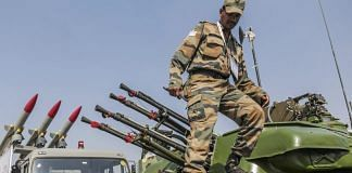 An Indian Army soldier climbs down from a Schilka air defence weapon system | Representational image | Photographer: Dhiraj Singh/Bloomberg