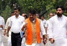 National General Secretary of BJP Kailash Vijayvargiya with son Akash Vijayvargiya right)