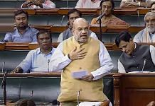 Amit Shah in Parliament | PTI