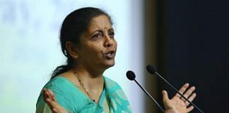 Union Finance minister Nirmala Sitharaman at Income Tax Day event in New Delhi | Suraj Singh Bisht | ThePrint