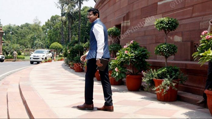 Rajyavardhan Singh Rathore at Parliament