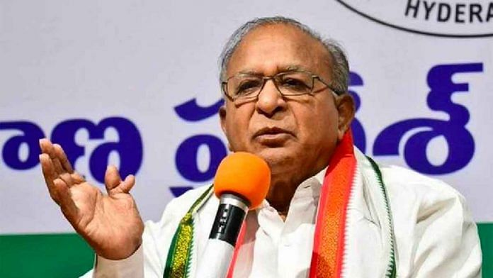Senior Congress leader and former Union minister S Jaipal Reddy | Twitter