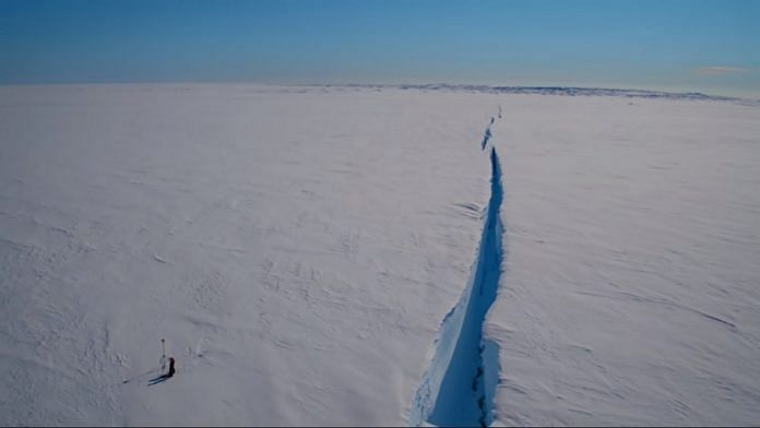A massive chunk of ice is poised to break away from Antarctica's Brunt Ice Shelf