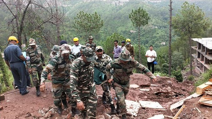 File photo of a CRPF team carrying out rescue and relief operation in Kumarhatti in July