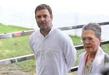 Rahul Gandhi and Sonia Gandhi at the AICC headquaters in New Delhi